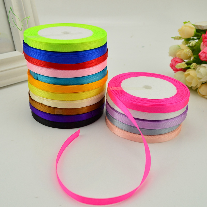 25 Yards Silk Satin Ribbon Wedding Party Decor Wrap Christmas Apparel Sewing CHK