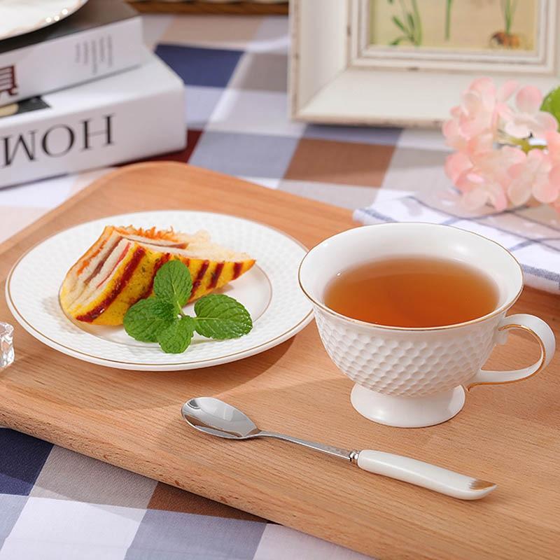 GLLead Kiinalainen valkoinen posliini-teekuppi Yksinkertainen muoti - Keittiö, ruokailu ja baari - Valokuva 5