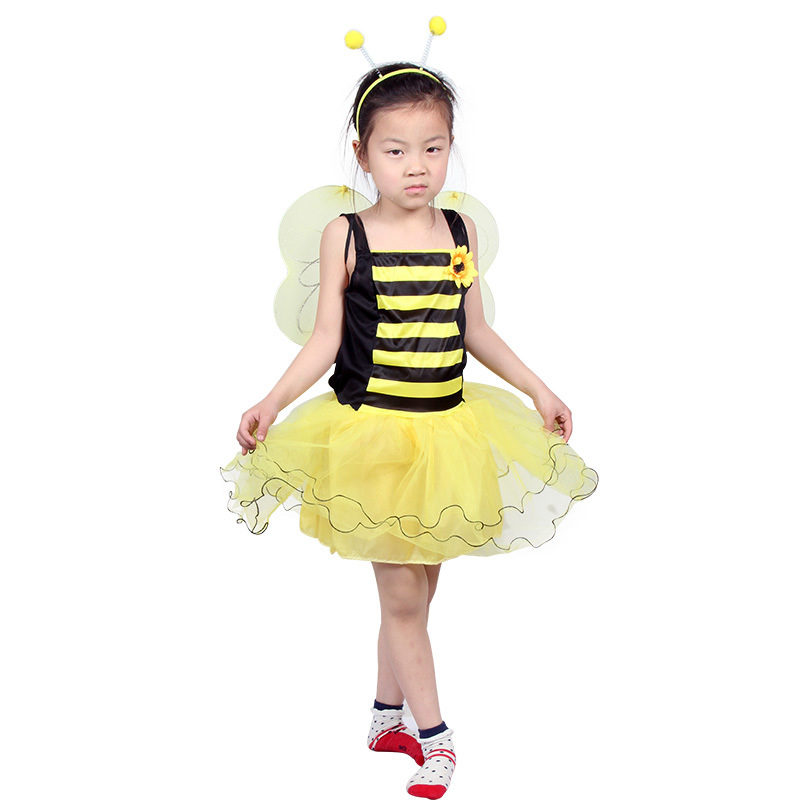 Girl Bee Costume Dress Insect Fairy Party Cosplay Insects Kids Girl