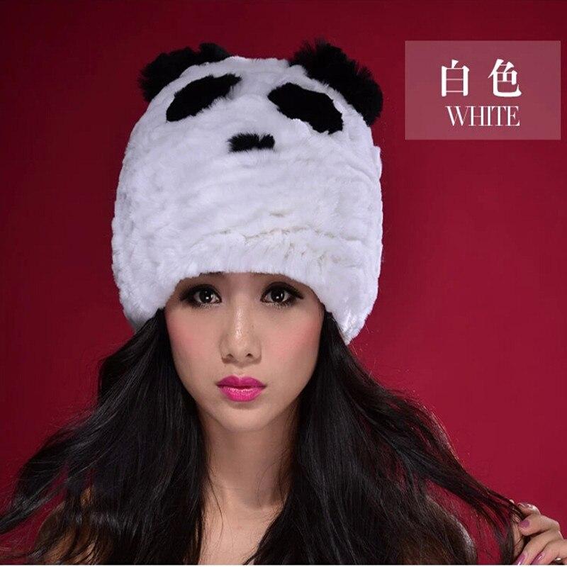 ⃝2016new sombrero de Panda. Rex lana de punto sombrero oído Otoño e ...