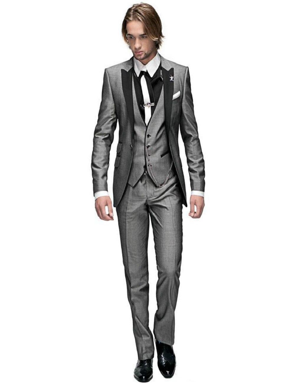 High Quality Grey Suit Black Vest-Buy Cheap Grey Suit Black Vest