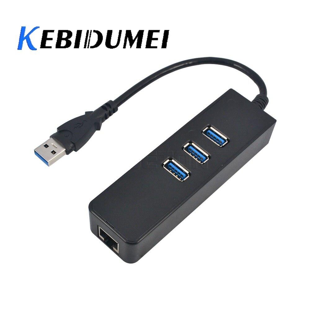 Süß GehäRtet Kebidumei 10/100/100 0 Mbps 3 Ports Usb 3.0 Hub Zu Rj45 Gigabit Ethernet Lan Netzwerk Lan Adapter Für Windows Mac Zu Verkaufen Networking Netzwerk Karten