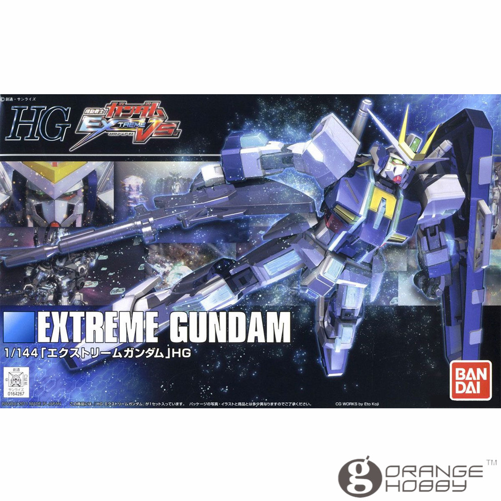 OHS Bandai HGUC 121 1/144 Extreme Vs Extreme Gundam Mobile Suit Assembly Model Kits ohs bandai mg 187 1 100 msn 00100 hyaku shiki ver 2 0 mobile suit assembly model kits