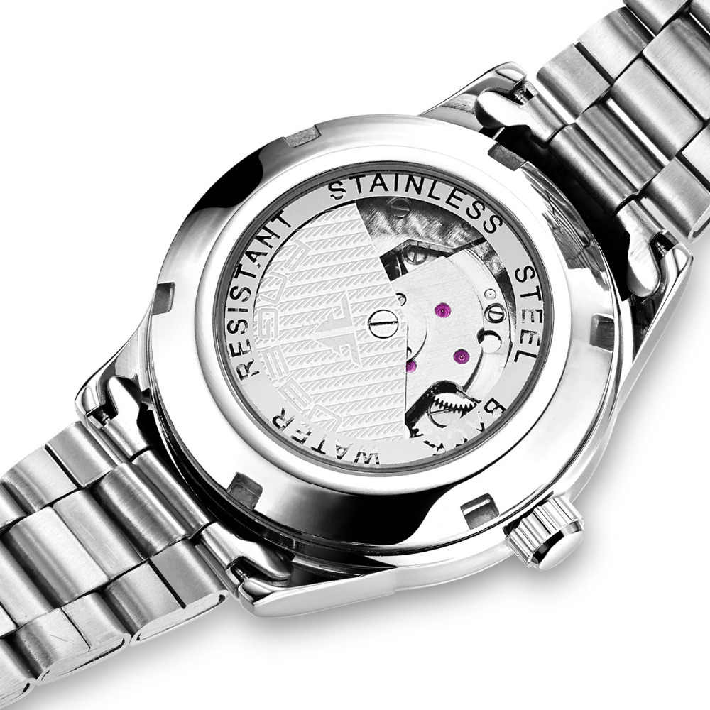 Women's Luxury Mechanical Watch Auto Date Automatic Watch Women Stainless Steel Mechanical Watches For Women Clock Reloj Mujer