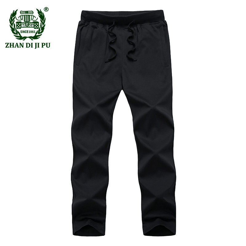 Super Large Size 3XL-9XL 2018 Summer mens casual brand soft cotton blue mid long pants man afs jeep jogger black thin trousers