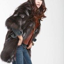 Новинка, натуральное пальто из лисьего меха, меховая куртка для женщин, модный бренд, мех FP465