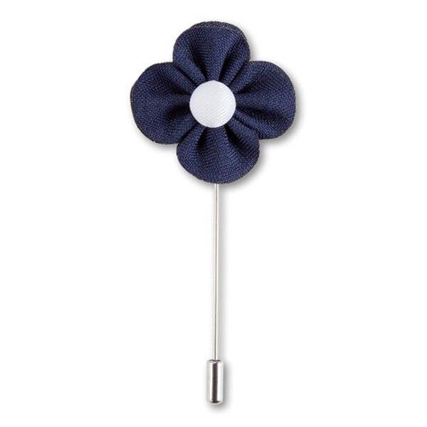 Aktiv Männer Handgemachte Blume Boutonniere Revers Krawattennadel Brosche (blau) Reisen