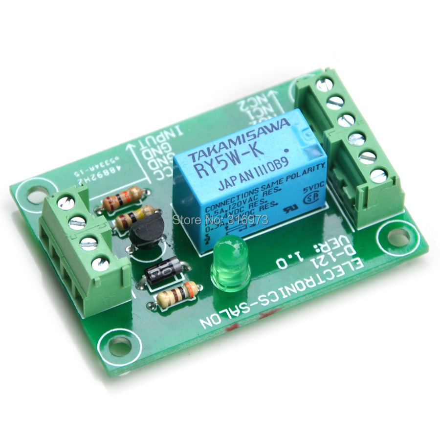 DPDT Signal Relay Module, 5Vdc, RY5W-K Relay. Has Assembled.