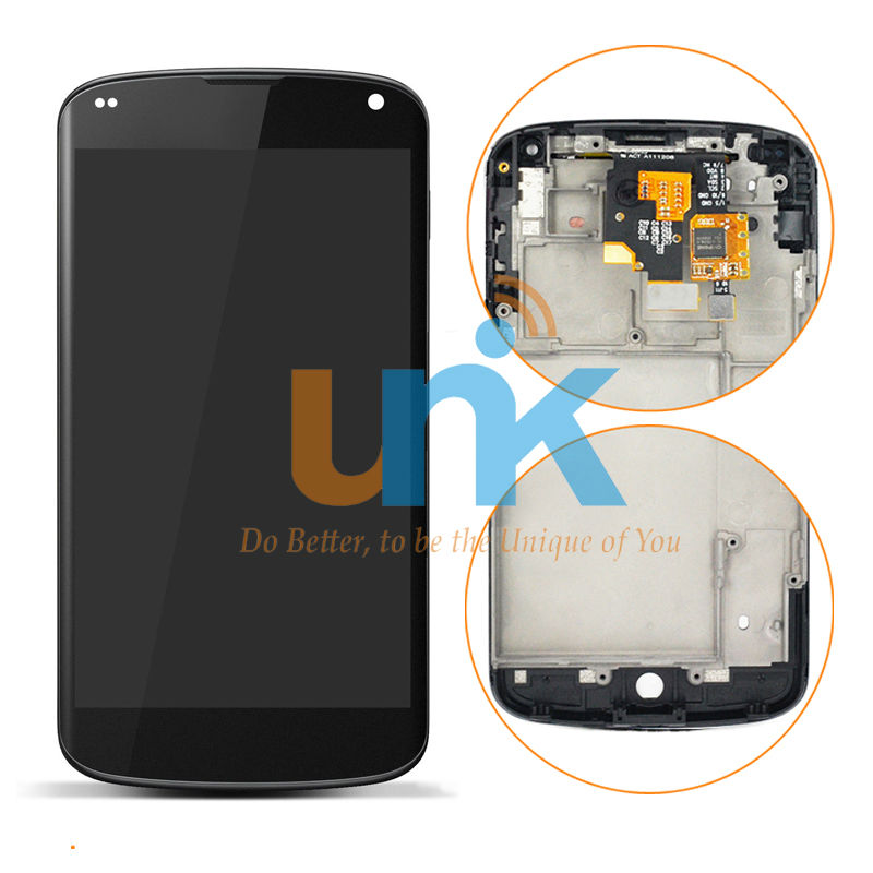Original AAA Replacement Parts LCD Display For LG Nexus 4 E960 LCD Display Touch Digitizer Screen With Frame Assembly Free Ship lcd screen assembly for apple iphone 4 4g lcd display touch screen digitizer pantalla with frame bezel replacement black white