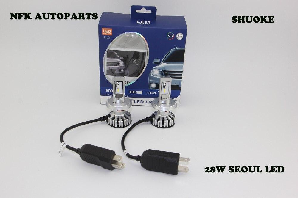 New Design H4 Hi/lo Beam 28W LED Headlight Bulb 6000K Headlight Lamp