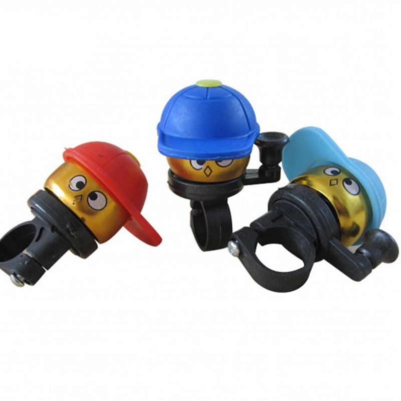 Romantic 200pcs/lot Cute Cartoon Cycling Hat Loud Ring Alarm Metal Handlebar Bell Bike Cap Horn