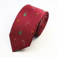 Mantieqingway Wedding Men Tie Christmas Tree Prinetd 8cm Necktie Corbatas Slim Vestidos Snowmen Pattern Cravat Neck Ties