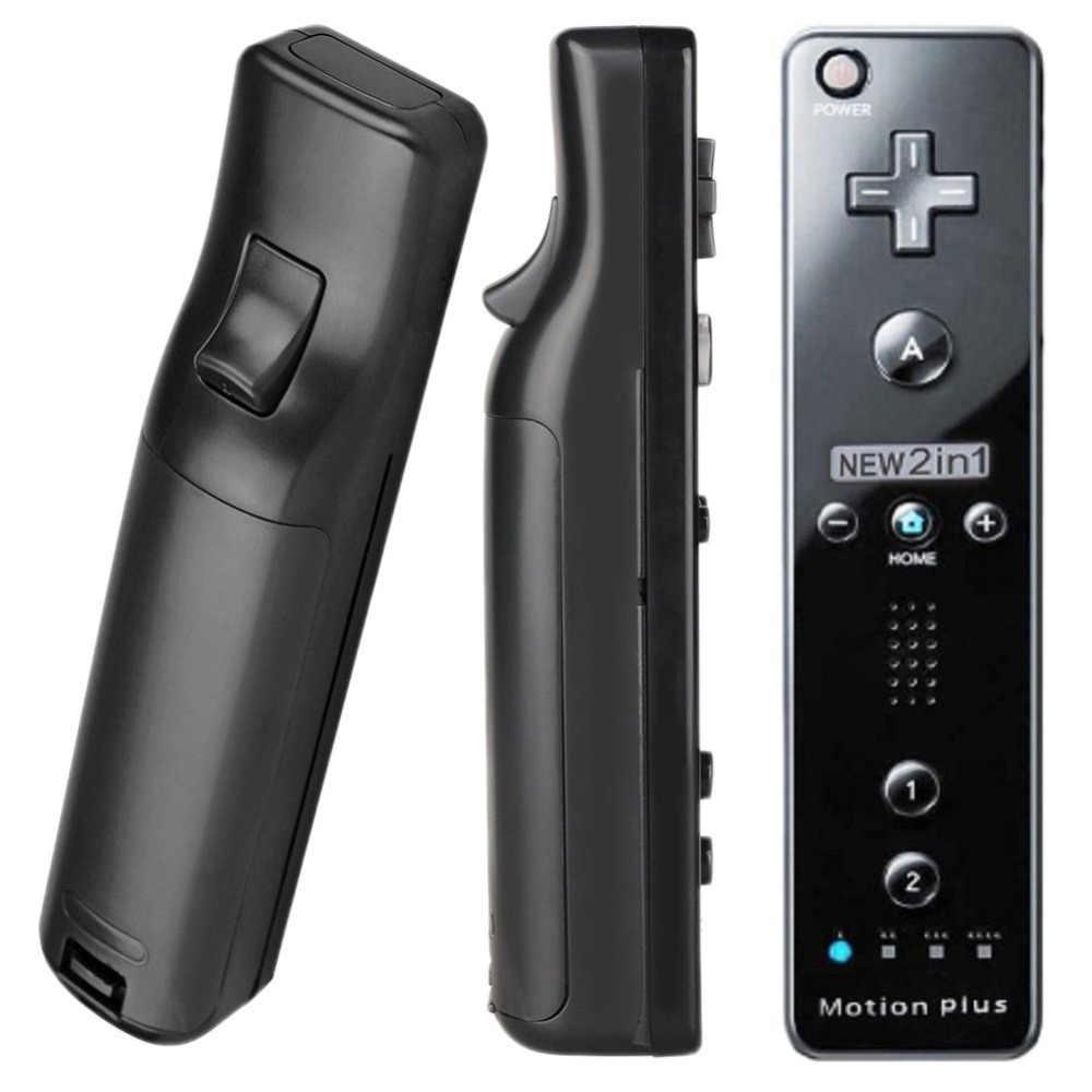 2 в 1 для nintendo wii Встроенный Motion Plus беспроводной пульт дистанционного управления Nunchuck Геймпад Джойстик видео игровые аксессуары