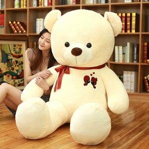 Image 2 - 1 adet büyük oyuncak ayı peluş oyuncak güzel dev ayı büyük dolması yumuşak bebekler çocuk oyuncak doğum günü hediyesi kız arkadaşı için
