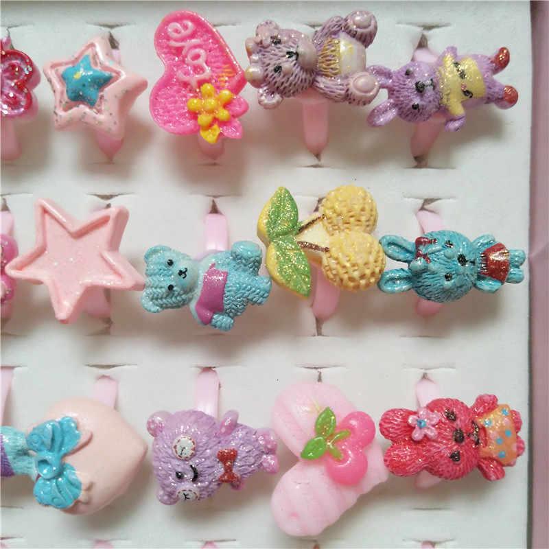 جديد أزياء أرنب خواتم للفتيات الصغيرات لطيف حلقة خمر الحيوان الفاكهة نجوم افتتاح والمجوهرات بالجملة خاتم