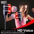 Collar de los deportes Bluetooth Auriculares CSR4.1 APT-X Decodificación Dual Altavoz Sin Pérdida Magnética Doble Mic Cancelación de Ruido Auriculares