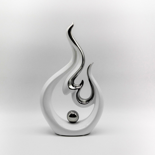 Escultura Decorativa Moderna Arte Chapado En Porcelana Escultura - Escultura-decorativa