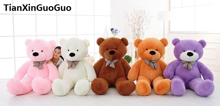 100% new toy large 120cm teddy bear soft plush toy Doll bowtie bear throw pillow birthday gift b1966 new creative plush bear toy cute lying bow teddy bear doll gift about 50cm