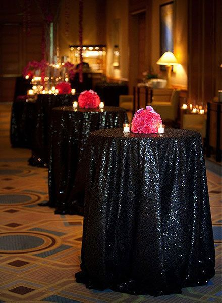 ShinyBeauty 90inch Round Black Sequin Tablecloth Can Accept Wholesale U0026  Customize Color And Size