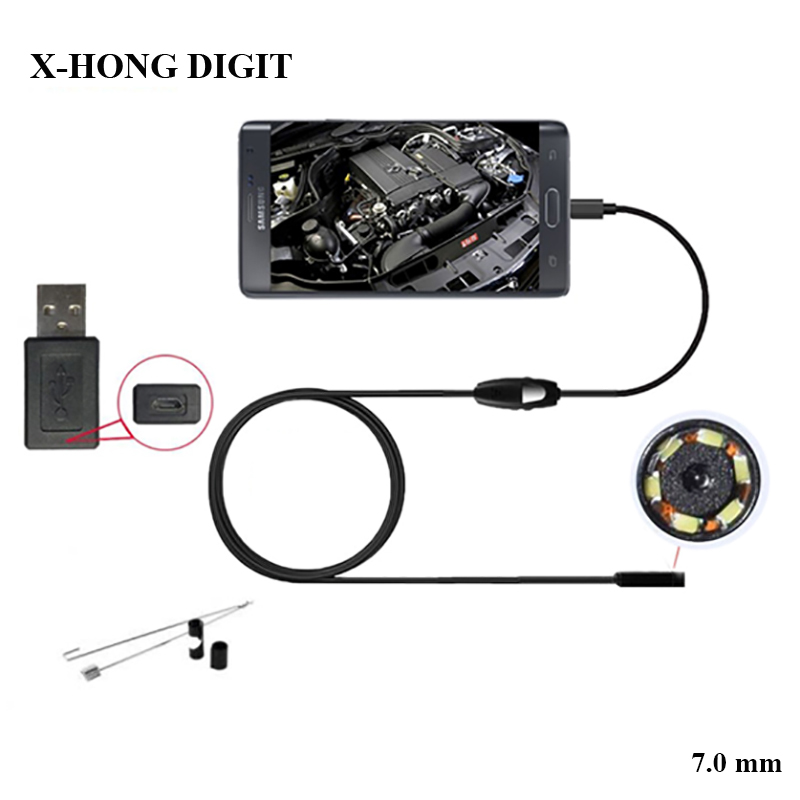 Industry Endoscope 7MM Endoscope USB Android Endoscopio Camera IP67 Android Borescope USB Endoskop Inspection Camera 7mm lens mini usb android endoscope camera waterproof snake tube 2m inspection micro usb borescope android phone endoskop camera
