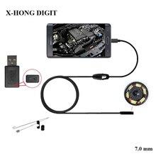Промышленность Эндоскоп 7 ММ Эндоскопа USB Android Endoscopio Камера IP67 Android Бороскоп USB Endoskop Камеры Инспекции