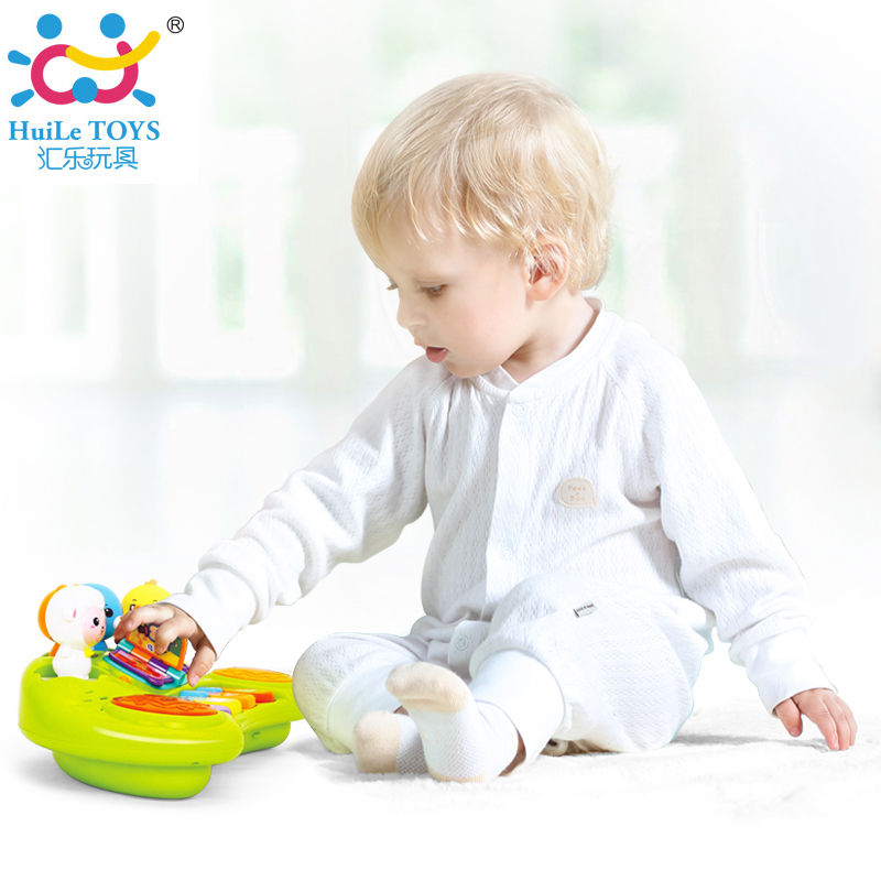 HUILE TOYS 2103A Baby Toys Learning Educational Musical Piano Animal Farm Instrument Developmental for Children