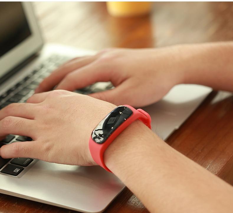 Rastreador de Fitness Monitor de Sangue Smartver à Prova Pulseira Esporte Inteligente Heart Rate Chamada Lembrete d' Água m5