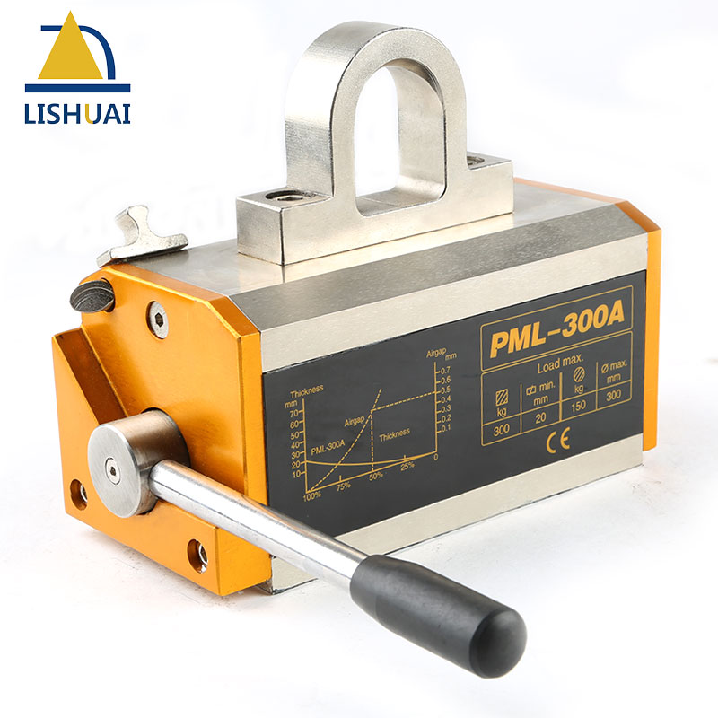 LISHUAI 300KG(660Lbs) Permanent Magnetic Lifter/Permanent Lifting Magnet for Steel Plate with CE Certified PML-300 600kg permanent magnetic lifter heavy duty steel lifting magnet hoist crane ce certified