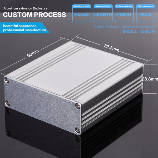 82.8*28.8*90mm(WxH-D) aluminum  box  aluminium profile for power supply