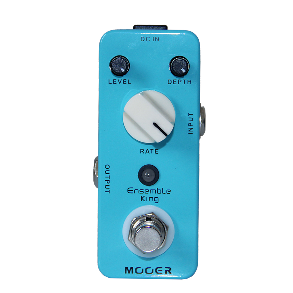MOOER Ensemble King Chorus Pedal,True bypass Excellent sound Pure analog chorus sound Full metal shell Very small and exquisite mooer reverie chorus digital chorus pedal chorus rotary ambiance shimmer and multiple