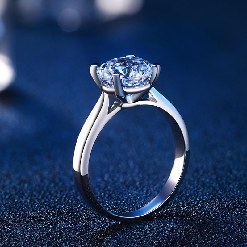 4 коготь GIA 1 карат d/si1/EX природных алмазов Для женщин кольцо 18 К из белого золота ручной работы обручальное Обручение кольцо