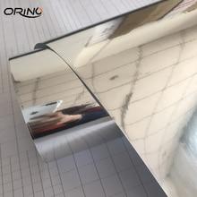 Серебряная зеркальная Хромовая Гальваническая виниловая Автомобильная упаковка, наклейка, украшение автомобиля, мотоцикла, мембранная наклейка, обертывания ORINO