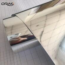 Autocollants de voiture en vinyle chromé, miroir argenté, papier demballage, autocollants de décoration pour moto, enveloppes ORINO