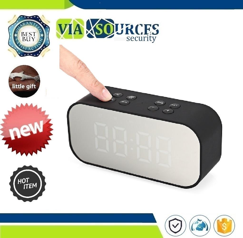 Music Sound Box LED Wireless Speaker With Alarm Clock Mirror NEW BT501 Portable Wireless Bluetooth Speaker Column Subwoofer