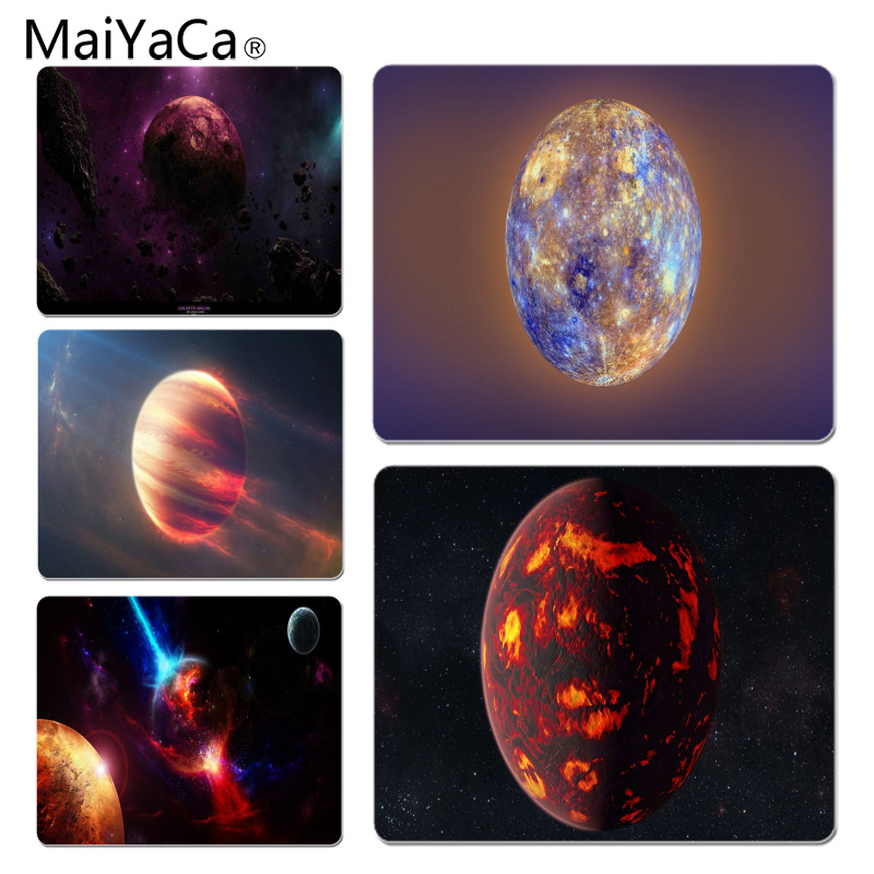 MaiYaCa Space Planet Large Mouse pad PC Computer mat Size for 25X29cm Gaming Mousepads