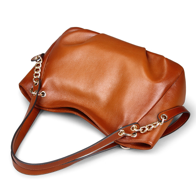 Go Meetting Brand Genuine Leather Women's Handbags High Quality Cow Leather  Women Shoulder Bags Vintage Chain Messenger Bag