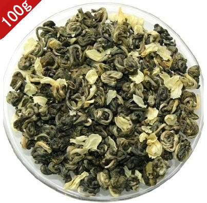 Jasmine green tea bud tea super Biluochun 100g Mingqian spring tea fragrant tea for health keeping food 250g jasmine flower tea green tea jasmine flavor biluochun tea jasmine bud free shipping