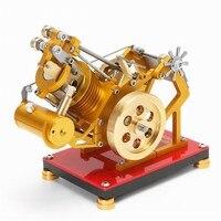 Принудительное воздушное охлаждение вакуумный двигатель Стирлинга Металл Модель творческие продукты