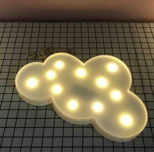 Image 2 - Promotie 3D Marquee Cloud Star Moon Led Nachtverlichting Baby Nursery Lampen Kinderen Slaapkamer Decor Kids Geschenken