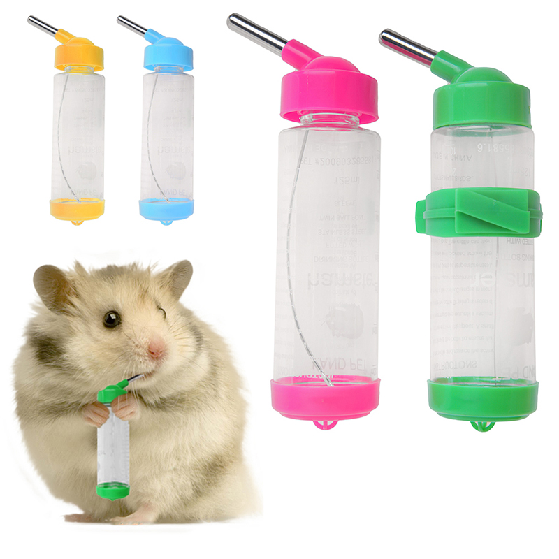 125ml Water Bottles Dog Feeders for Dog/Bird/Rabbit/Hamster/Pet Hanging Bottle Auto Feeder Water Dispenser Z07 Drop Shipping