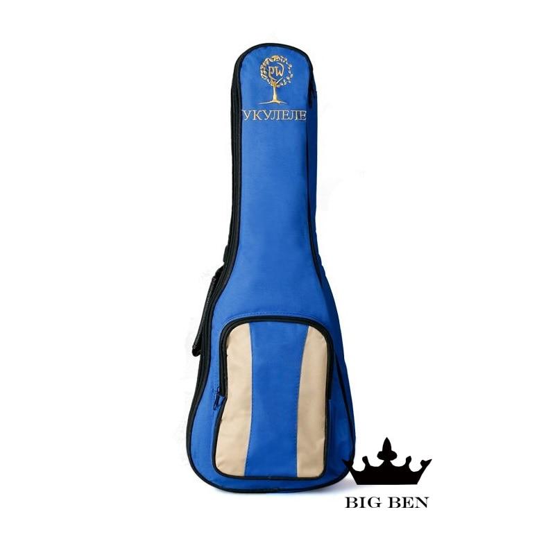 Small guitar thicken bags 23 24inch Ukulele backpack beautiful little blue guitar bag thickening sponge waterproof waterproof ukulele bag case backpack ukelele guitar accessories beige 23 24 inch 66 26cm