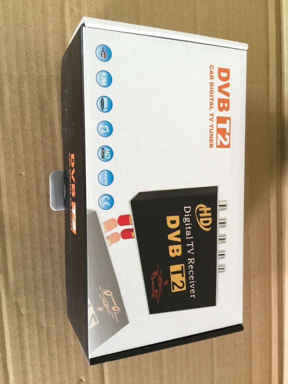 imágenes para Dual antena alta velocidad del coche de HD DVB-T2 móvil coches TV Turner auto TV dvb t2 coche dvbt2 mpeg4 120-150KMH