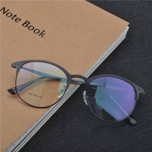0f77a23783cb MINCL/Anti-blue light Retro flat Mirror Women students Round glass Metal  Men Reading glasses Unisex Clear Lens glasses FML