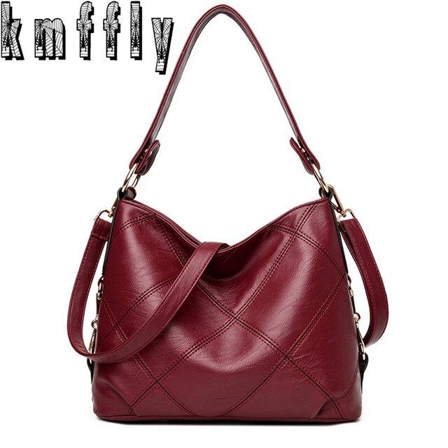 6e8d8096f4bb KMFFLY 2018 Women Bag Fashion Sheepskin Leather Designer Handbags High  Quality Ladies Bags Famous Shoulder Bag