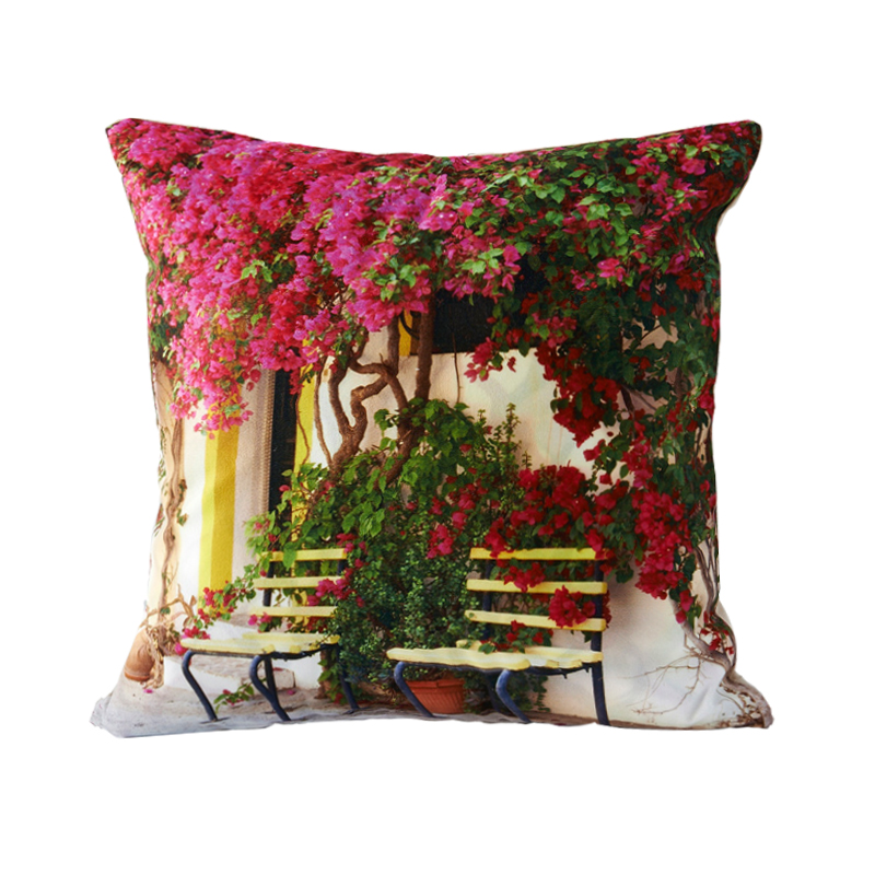 RUBI 3D design flower door decorative throw pillows cushion without inner home decor sofa soft ...