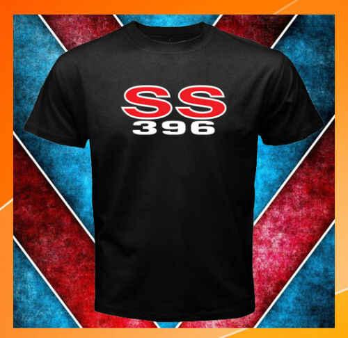 Chevelle SS 396 Логотип Chevrolet SS396 Мужская черная футболка S M L XL 2XL 3XL