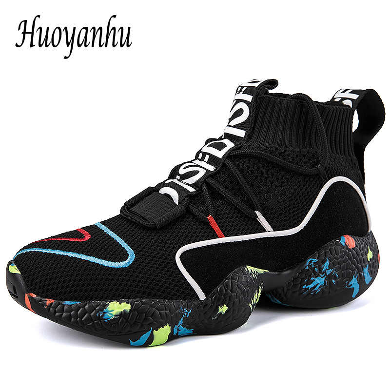 27939597bd2e 2018 New Winter Thermal Sneakers Women Men Knit Upper Sport Shoes High Top  Running Shoes For