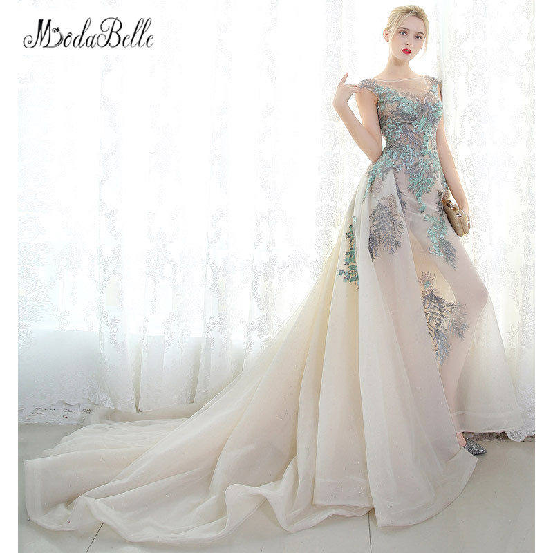 modabelle Arabic Evening Dress Long Embroidered Robe Soiree Longue Femme  2017 Fall Sleeveless Long ...