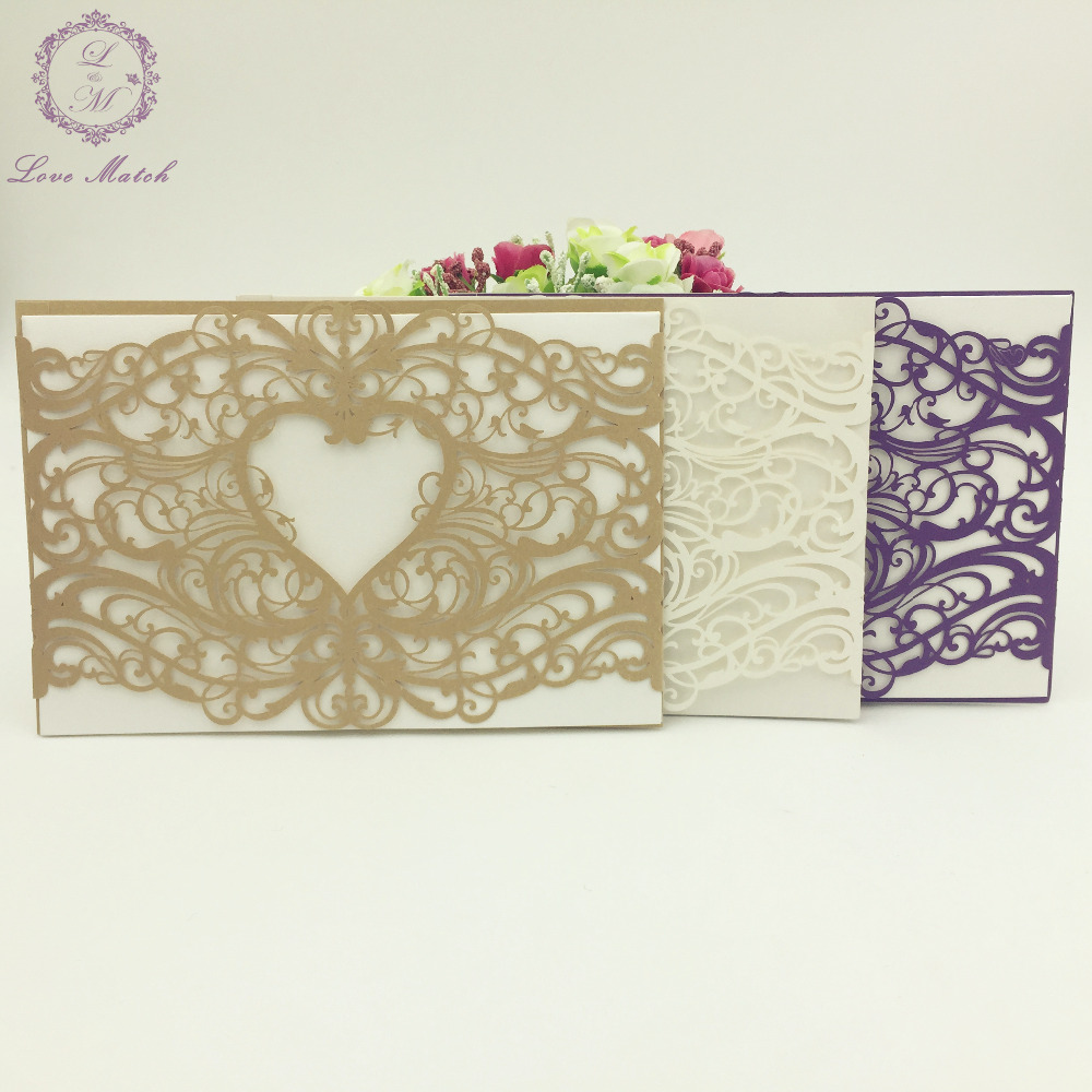 Sets Cut WeddingBusinessPartyBirthday Invitation Laser Cut - Birthday invitation cards luxury