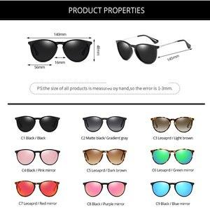 Image 5 - Pro Acme Vintage Cat Eye Polarized Sunglasses Women 2020 Tortoise Brown Retro Round Mirrored Lens gafas de sol mujer PA1266